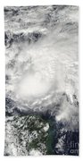 Tropical Storm Ida In The Caribbean Sea Beach Towel