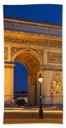 Twilight At Arc De Triomphe Beach Towel