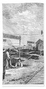Underground Village, 1874 Beach Towel