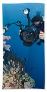 Underwater Photography Beach Towel