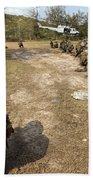 U.s. Marines Provide Security Beach Towel
