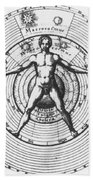 Utrisque Cosmi, Title Page, 1617 Beach Towel by Science Source