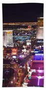 Vegas Strip At Night Beach Towel