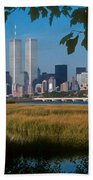View From Liberty State Park Beach Towel