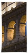 View Of The Roman Coliseum In Rome Beach Towel