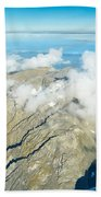 View On To Fox Glacier In South New Zealand Beach Towel