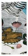 Vishnu And Lakshmi Beach Towel