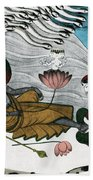 Vishnu And Lakshmi Beach Sheet