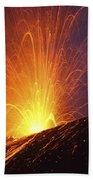 Vulcanian Eruption Of Anak Krakatau Beach Towel