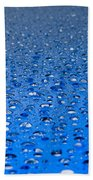 Water Drops On A Shiny Surface Beach Towel
