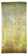 Water Pattern On Old Paper Beach Towel by Setsiri Silapasuwanchai