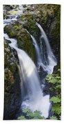 Waterfalls Of Sol Duc River, Olympic Beach Towel