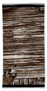 Weathered Wall In Bodie Ghost Town Beach Towel