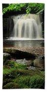 West Burton Falls In Wensleydale Beach Towel