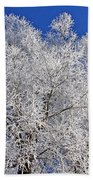 White Frost Tree  Beach Towel