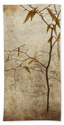 Winter Leaves Beach Towel