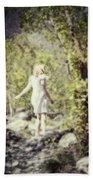 Woman In A Forest Beach Sheet