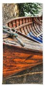 Wood Boat Beach Towel