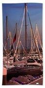 Yacht Marina Beach Towel