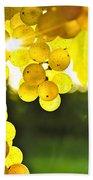 Yellow Grapes Beach Towel