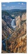Yellowstone Lower Falls Beach Towel
