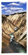 Yellowstone River Below Lower Falls  Beach Towel