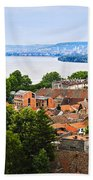 Zemun Rooftops In Belgrade Beach Towel