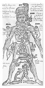 Zodiac Man, Medical Astrology Beach Towel
