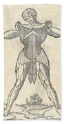 Historical Anatomical Illustration Beach Towel