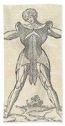 Historical Anatomical Illustration Beach Sheet