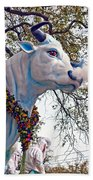 Rex Mardi Gras Parade Beach Towel