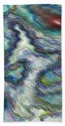 Abstract Art Beach Sheet