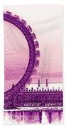 London Eye Art Beach Towel