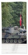 The Leopard 1a5 Of The Belgian Army Beach Towel