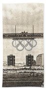 Tower Bridge Art Beach Towel