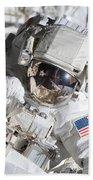 Astronaut Participates Beach Sheet