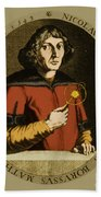Nicolaus Copernicus, Polish Astronomer Beach Towel by Science Source