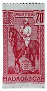 old French postage stamp Beach Sheet