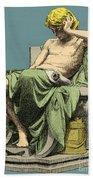 Aristotle, Ancient Greek Philosopher Beach Towel