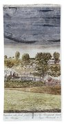 Battle Of Concord, 1775 Beach Towel