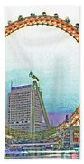 London Eye Art Beach Towel