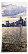 Toronto Skyline Beach Towel by Elena Elisseeva
