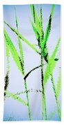 Water Reed Digital Art Beach Towel