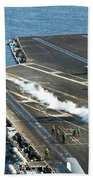 An Fa-18c Hornet Launches Beach Towel