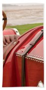 1911 Fiat S61 Steering Wheel Beach Towel