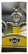 1914 Stutz Series E Bearcat Hood Ornament Beach Towel