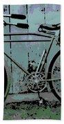 1918 Harley Davidson Bicycle Beach Towel