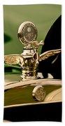 1919 Mcfarlan Type 125 Touring Motometer - Hood Ornament Beach Towel