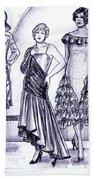 1920s British Fashions Beach Towel