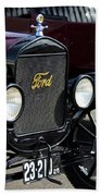 1925 Ford Model T Coupe Grille Beach Towel